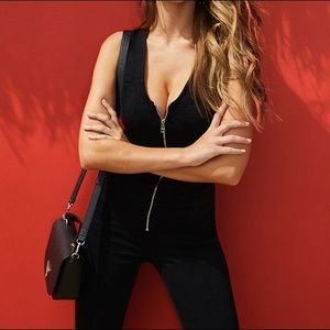 GUESS BLACK MARA DENIM JUMPSUIT